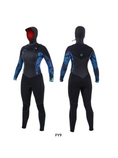 O'Neill Women's Psycho Tech Hooded 6/4+ mm Frontzip Neoprenanzug